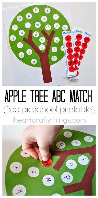 I HEART CRAFTY THINGS: Fun Apple Tree ABC Match Preschool Printable