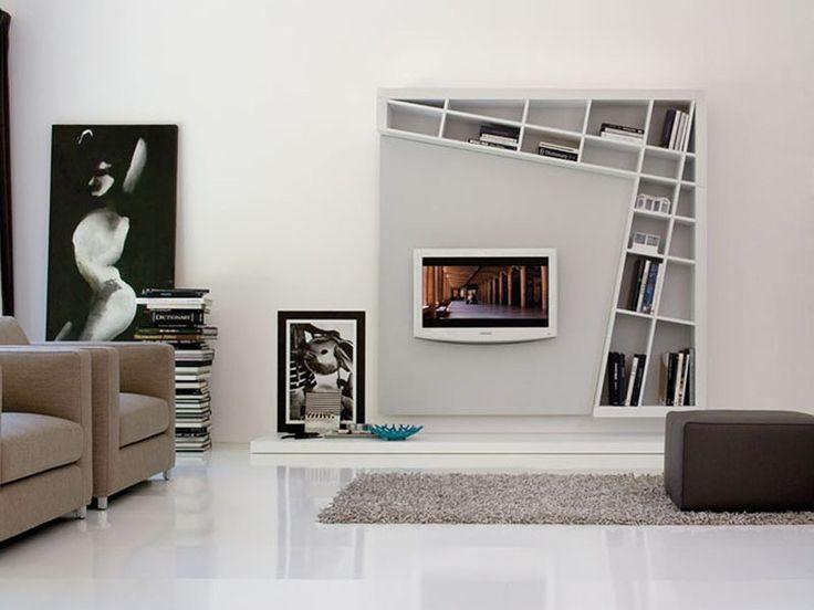decoración centro de entretenimiento minimalista - Buscar con Google
