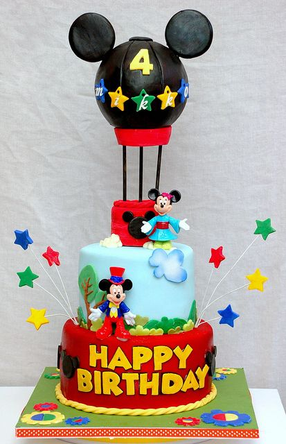 mickey mouse cake by Bellina Cupcakes, via Flickr