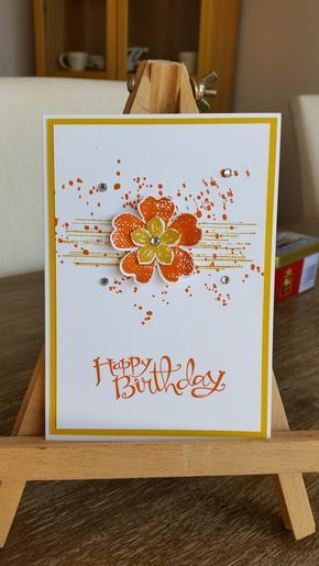 Here's the cards we made at March's card club. This month it was all about the stamp set Flower Shop. Card #1 We used: Lost La…
