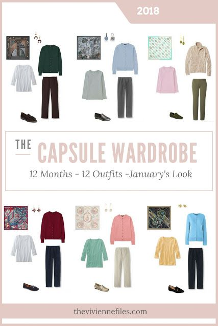 Build a Capsule Wardrobe in 12 Months, 12 Outfits - January 2018