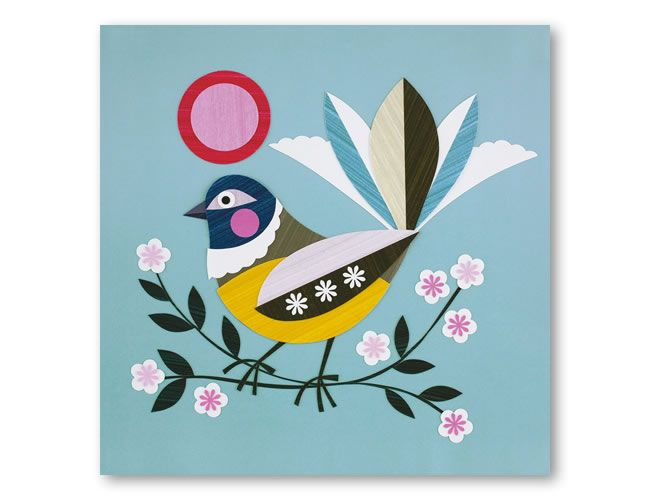 Piwakawaka $27.50 30x30cm print