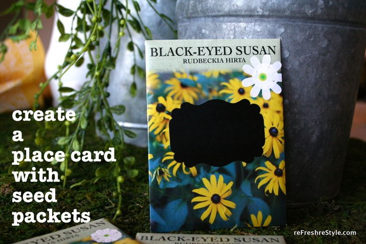 Seed Packet Place Cards For next year mother daughter banquet theme Garden