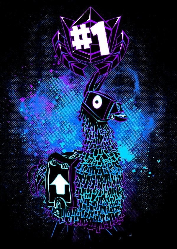 Fortnite Characters Llama Displate Artwork By Artist Donnie Part Of A Set Based On Characters From The Popular Fortnite Battle Royale ゲームアート ゲーム 壁紙 カービィ 壁紙