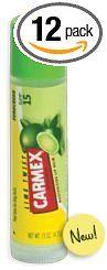 Amazon.com: Carmex Ultra Smooth Lip Balm, SPF 15, Lime Twist 0.15 Oz (Quantity of 12): Health & Personal Care