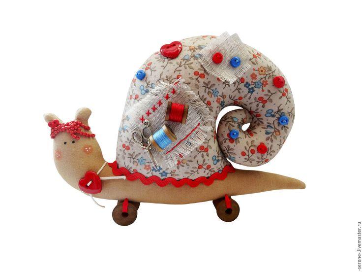 Купить Улитка Тильда рукодельница - улитка, улитка Тильда, тильда улиточка, кукла улитка