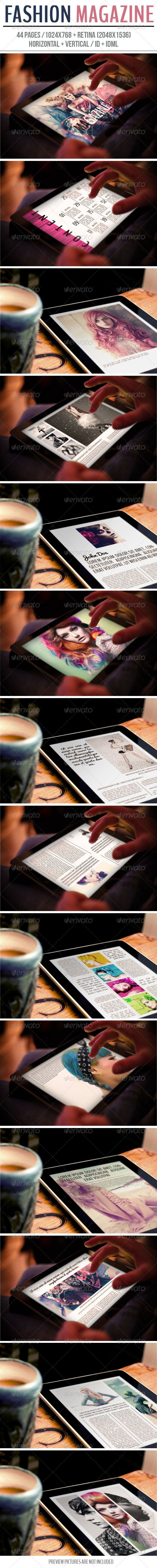 iPad & Tablet Fashion Magazine Template #design Download: http://graphicriver.net/item/ipad-tablet-fashion-magazine/6652226?ref=ksioks
