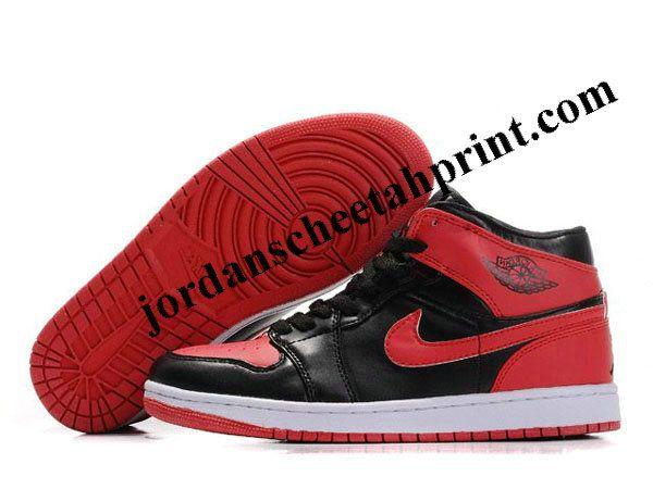 Nike Air Jordan Retro 1 Shoes Black/Red/White For Sale