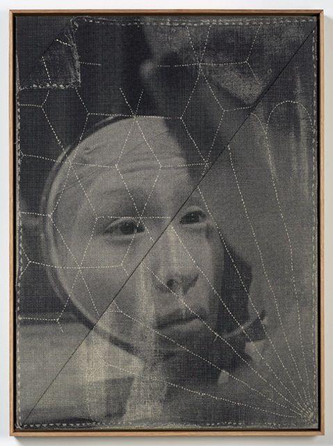 David Noonan, Untitled, 2015, silkscreen on linen collage, 78 × 58 cm (framed)