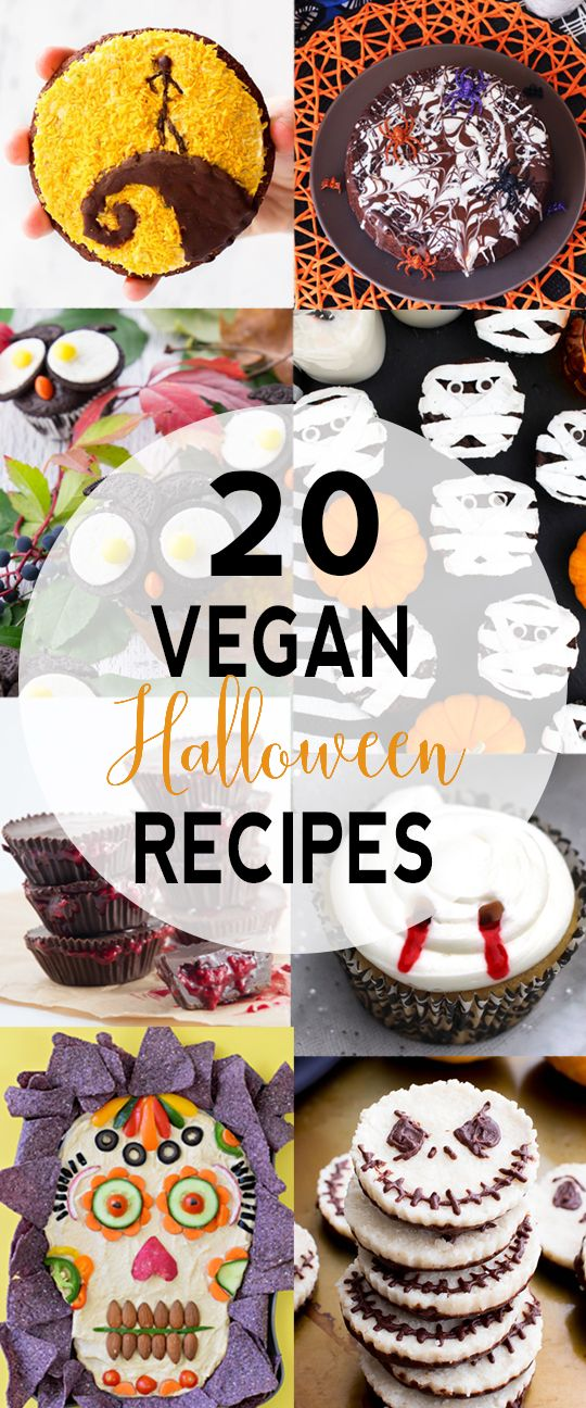 20 Vegan Halloween Recipes | Want some tasty and fun vegan Halloween recipes? I got you covered! I'm sharing my 20 favorite vegan treats!  via @VNutritionist