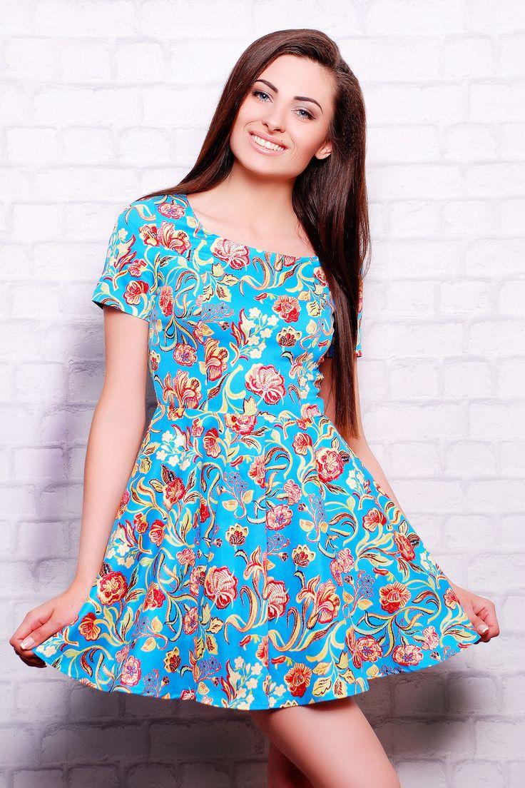 Женские голубые платья
