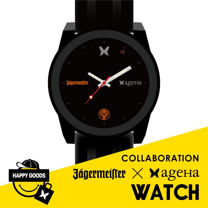【COLLABORATION -Jägermeister × ageHa-   WATCH】 color : BLACK price : ¥2,000 (tax in)