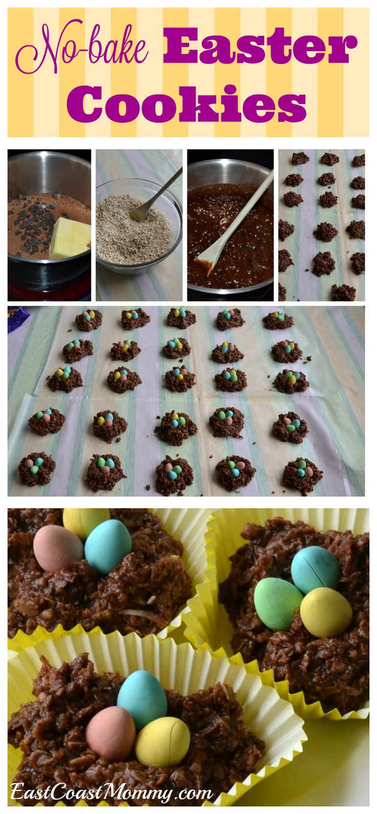 126 best cute food easter images on pinterest creativity bird nest cookies negle Choice Image