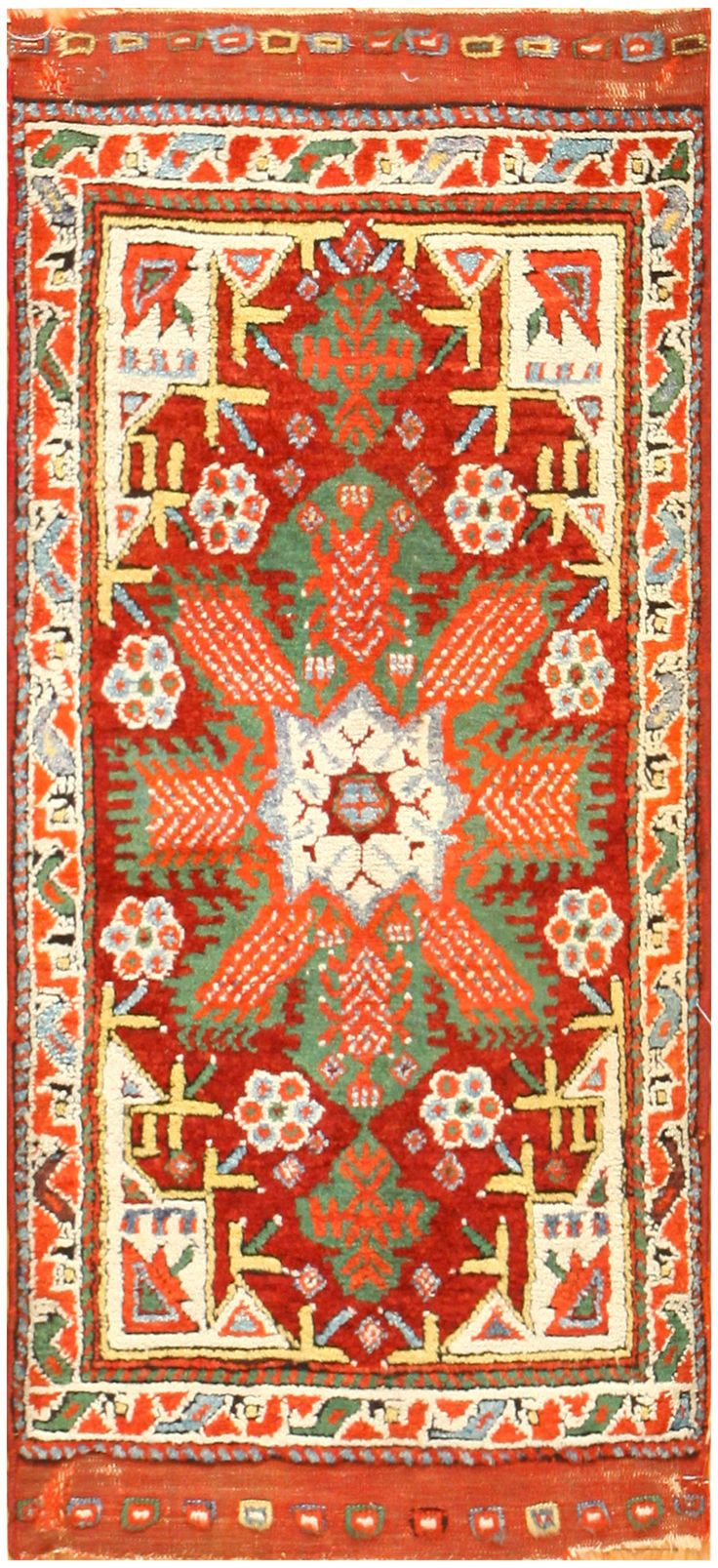 Rare And Collectible Antique Turkish Yastic Rug 48614