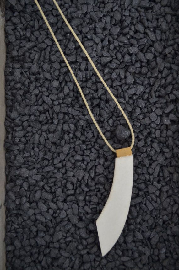 Geometric necklace made of Greek marble! So elegant! You can wear it all day and match it with every style. The white marble is from Thassos island.
