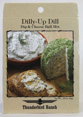Dilly-Up Dill Cheese Ball & Dip Mix – Thunderbird Ranch Gourmet Foods