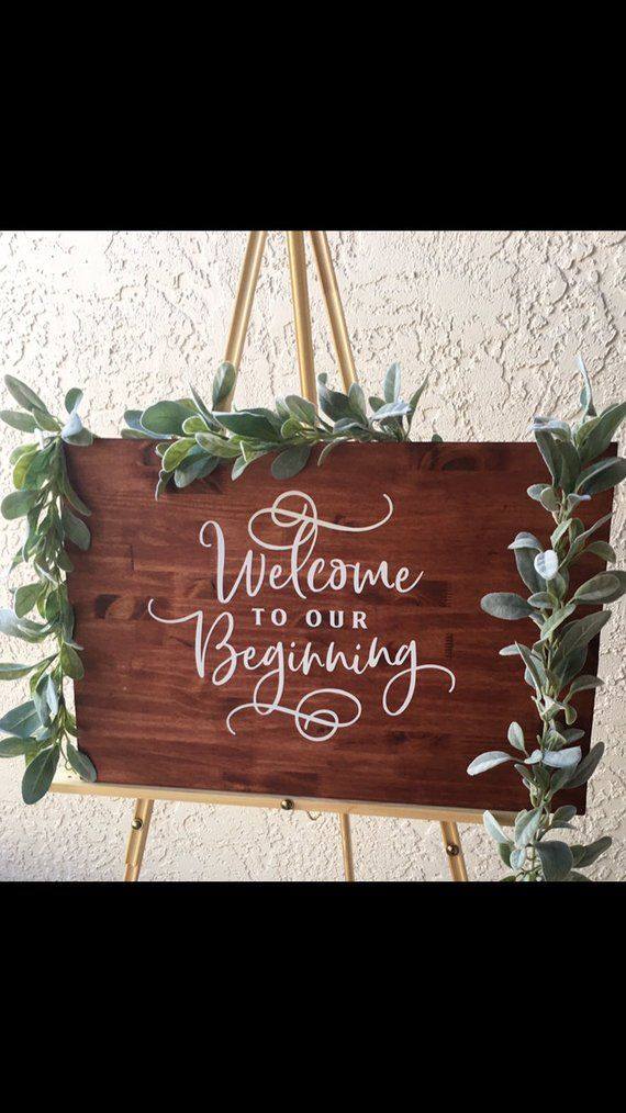 Welcome To Our Beginning Rustic Wedding Sign Etsy Wedding Signs Rustic Wedding Rustic Wedding Signs