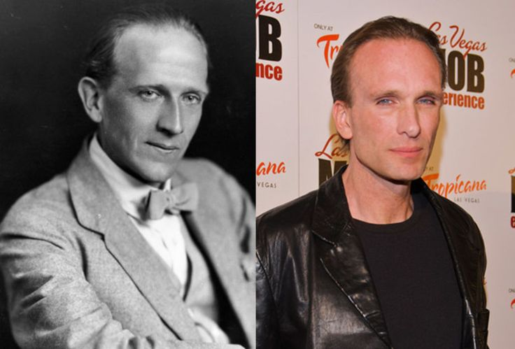 Famous Lookalikes: A.A. Milne - Peter Greene (Images of A.A. Milne and Peter Greene provided by Getty Images)