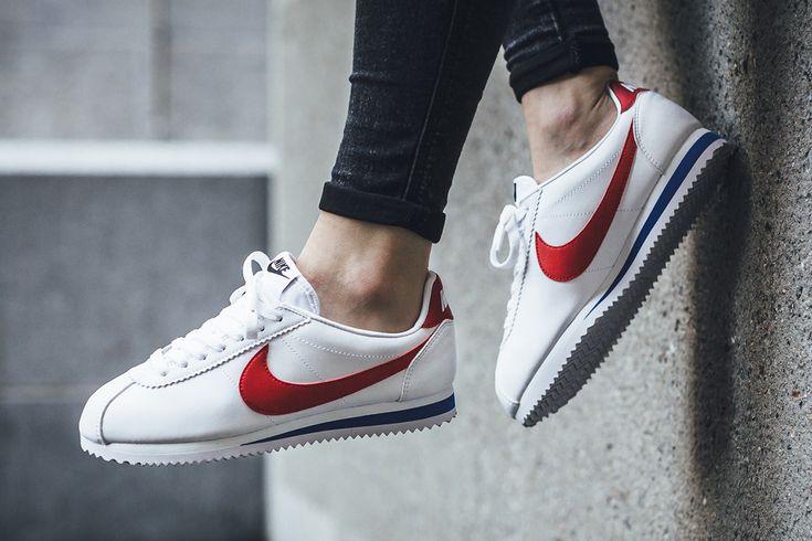 "Nike WMNS Classic Cortez Leather ""White/Varsity Red-Varsity Royal"" - EU Kicks Sneaker Magazine"
