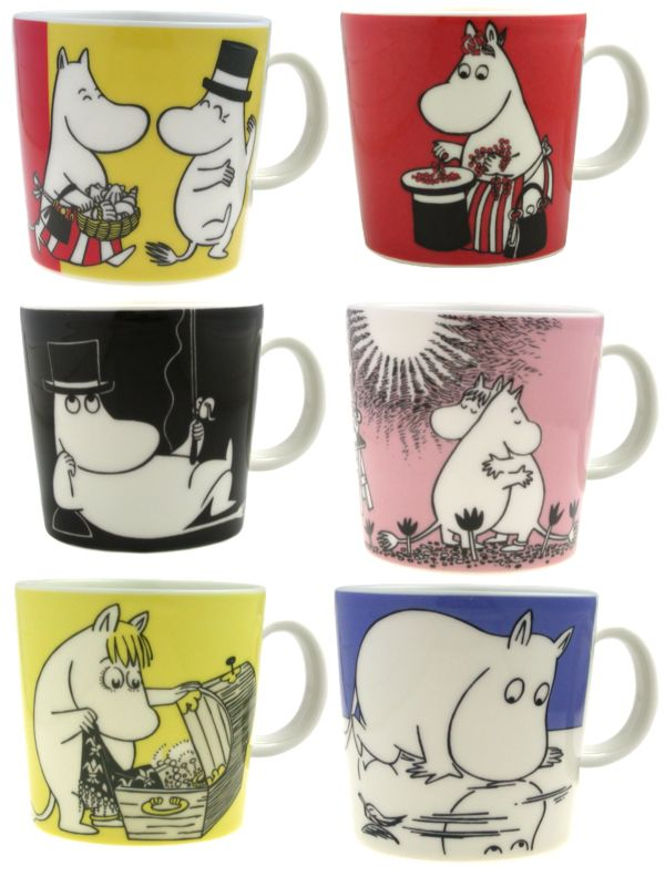 Moomin Mugs - the 1st one is mine! :) and I'd like to have the pink one, with cuddling Moomins... ;)