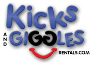 Kicks and Giggles rents bounces houses, obstacle courses, waterslides, and outdoor movie screens.