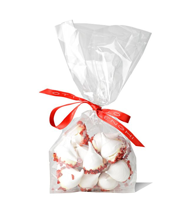 Strawberry woodland meringues £6.90 http://bit.ly/SBMeringue  So-called because they look like little acorns, these bite-size meringue peaks, brushed with the classic Ottolenghi combination of white chocolate and freeze-dried strawberry, are very moreish indeed.