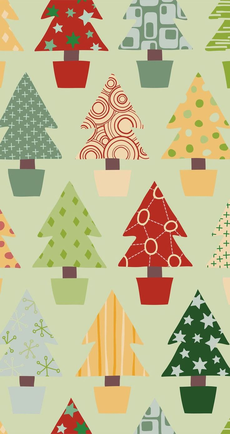 Christmas Tree Patterns. Tap image for more iPhone 6 Christmas Pattern Background Wallpapers! Christmas trees wallpaper - @mobile9 | #christmas #winter