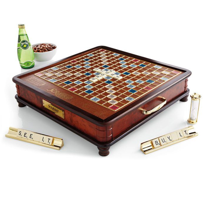 Every word really is a winner when played on the luxury edition Scrabble® game.