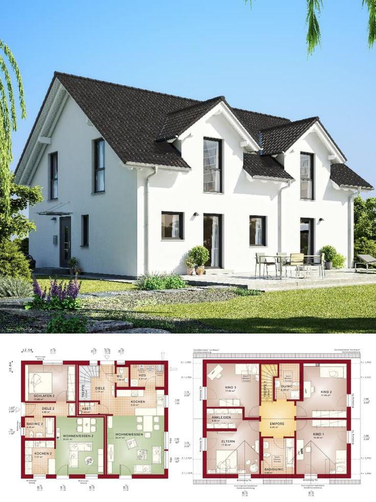 1382 best hausbaudirekt images on pinterest gable roof for Klassisches haus bauen