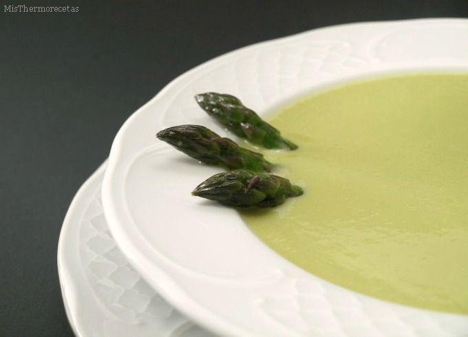 Crema de espárragos verdes - MisThermorecetas.com