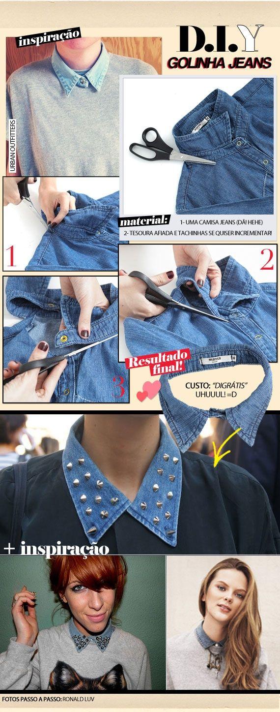 Reciclado de cuellos de camisa #Tendencia #DIY