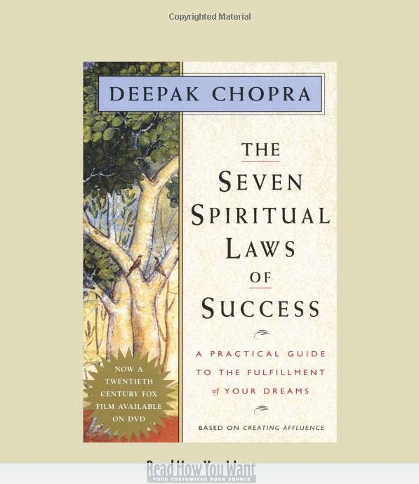 How to align with the subtle yet powerful, unseen forces that affect the flow of money in our lives? The answer is on The Seven Spiritual Laws of Success: A Practical Guide to the Fulfillment of Your Dreams.