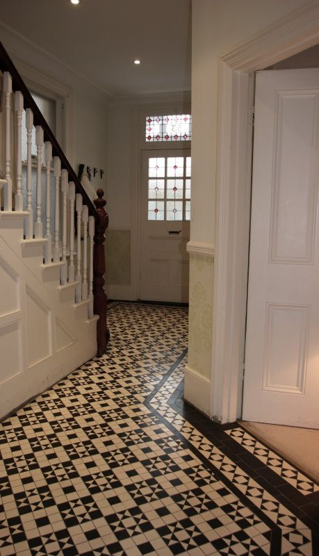 42 best hallways images on pinterest cottages country for Entrance flooring ideas