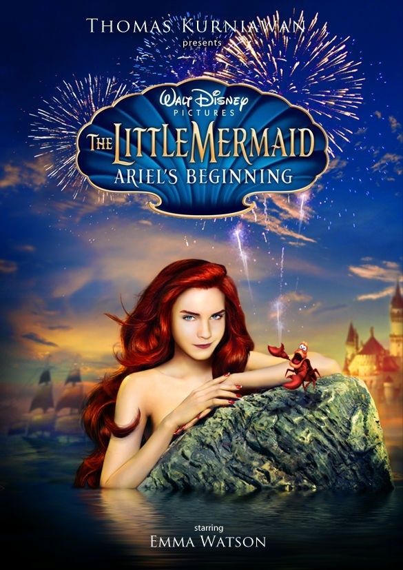 Emma Watson as the Ariel in live action version of The ...