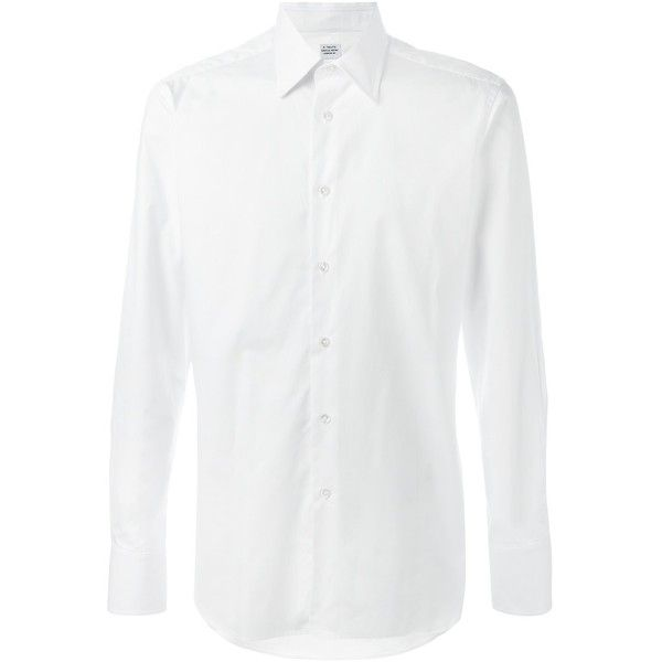 E. Tautz cutaway collar shirt ($150) ❤ liked on Polyvore featuring men's fashion, men's clothing, men's shirts, men's dress shirts, white, mens dress shirts, mens cutaway collar dress shirts, mens white dress shirts and mens white shirts