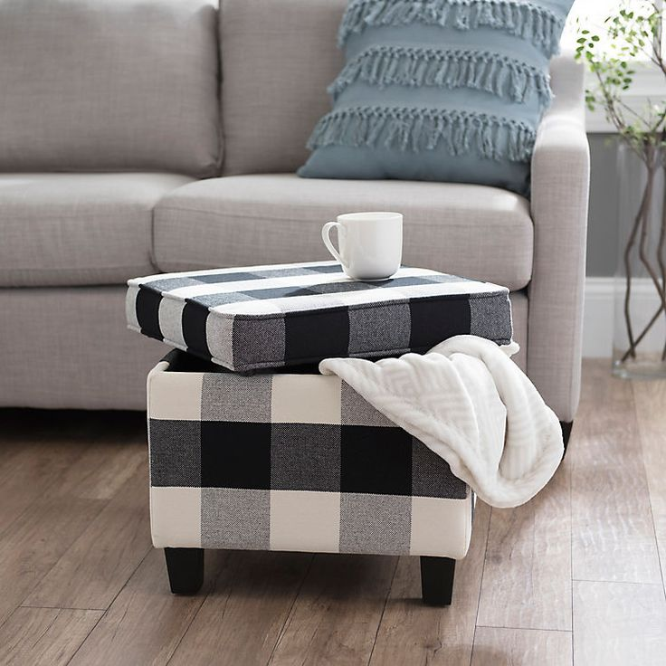 Product Details Black And White Buffalo Check Storage
