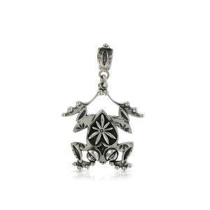 Silver Frog Pendant by Prey Jewellery