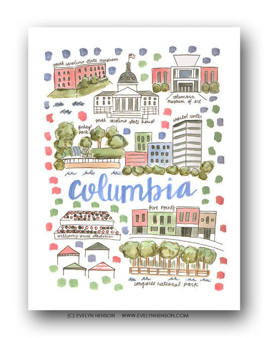 Map Print by Evelyn Henson
