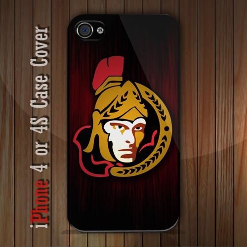 New NHL Ottawa Senators Logo R2 iPhone 4 or 4S case Cover iPhone case 4/4S