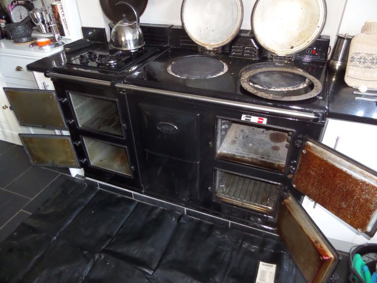 Aga Cleaning before and after Photos by Ovenmagic Worcestershire