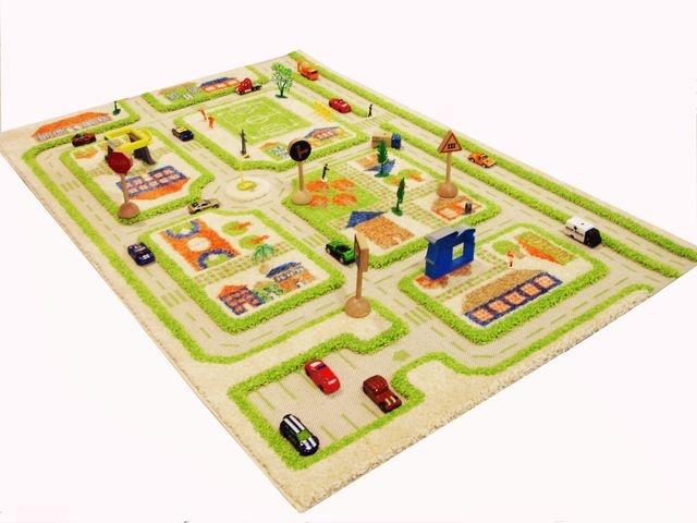 IVI Play Rug: Traffic, green