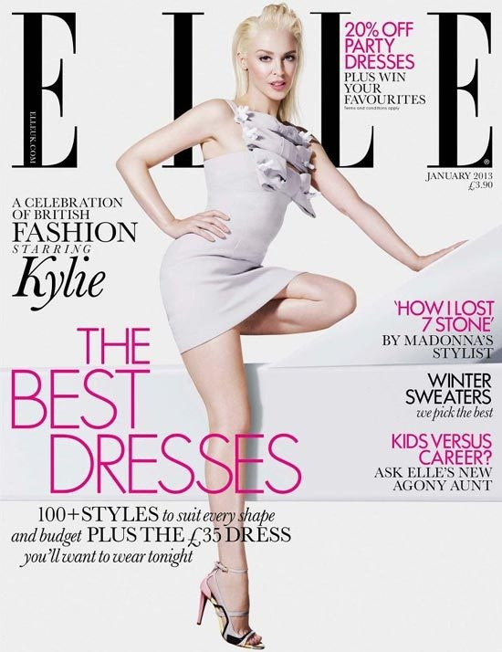 Kylie Goes Bleach Blonde For ELLE