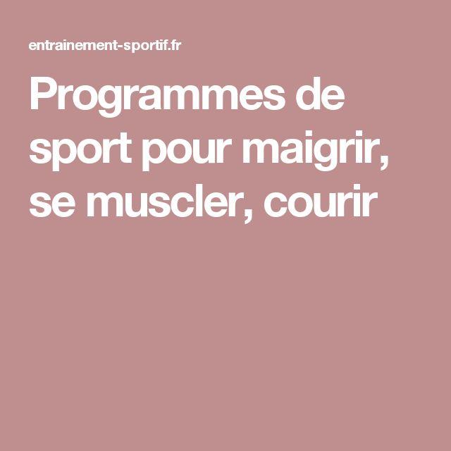 Sport Pour Maigrir Et Se Muscler - interroothx.over-blog.com