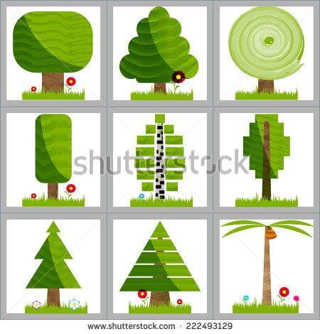 Trees as part of infographics. Vector illustration. - stock vector