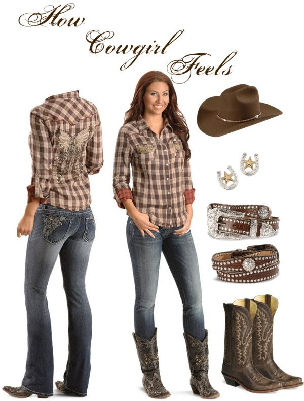Modern cowboy outfit for women - photo#18