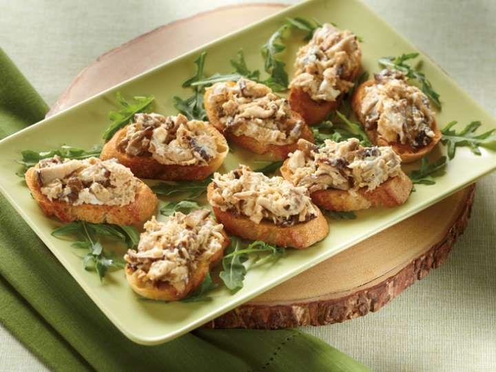 Crostinis de thon aux champignons et jalapeño - Clover Leaf recette de Clover Leaf