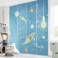 Traumhafte #Schiebegardinen #Ideen Sets auch fürs #Kinderzimmer und #Babyzimmer 1-6teilig #Schiebevorhang #Raumtrenner #Raumteiler auf Bilderwelten.de
