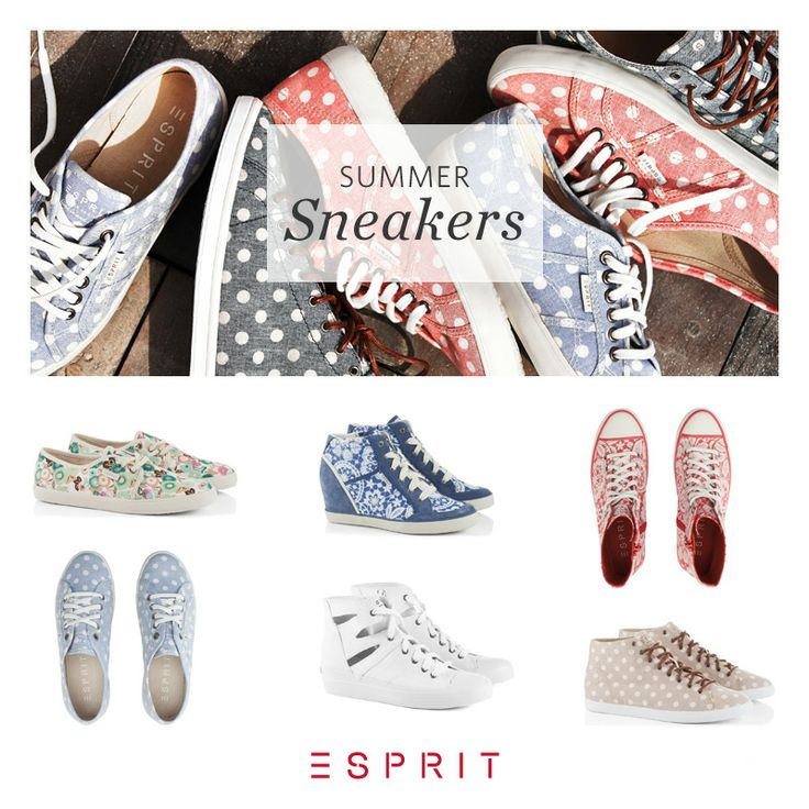 Time for #color! Our new #Esprit #summer #sneakers just arrived! Dots, #flowers or #lace – what's your favourite?