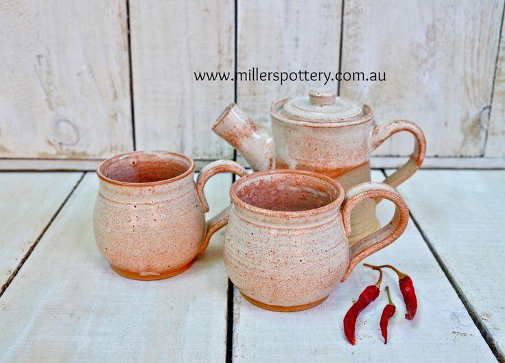 Australian handmade ceramic vintage set by www.millerspottery.com