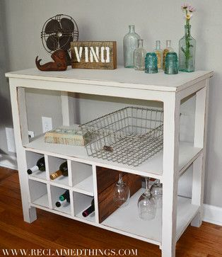 Reclaimed Wood Wine Stand eclectic wine racks